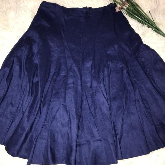 c1e8d84388 Lauren Ralph Lauren Skirts   Navy Blue Linen Cotton Skirt   Poshmark